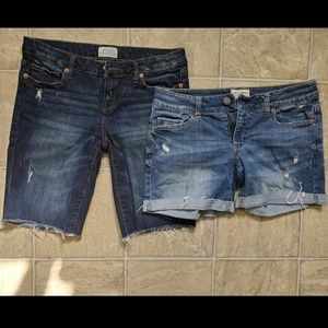 2 Pairs Jean Shorts Size 3/4